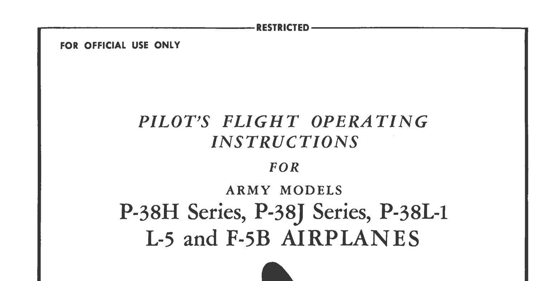 Lockheed P-38HJL-1&L-5L-5B Flight Manual.pdf | DocDroid